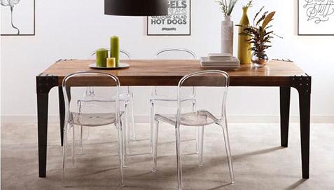 Tavolo Da Pranzo Industriale : Tavolo da pranzo vintage industriale legno e acciaio