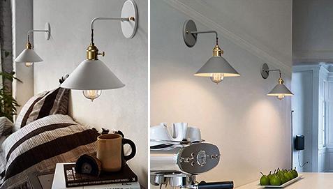 Lampada applique da parete curie metallo