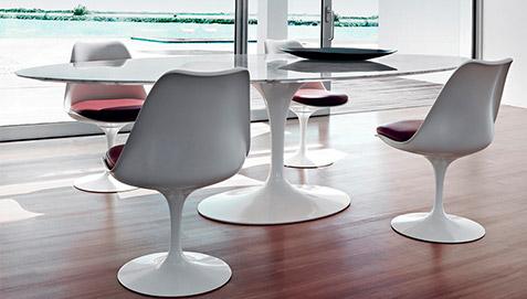 Tavolo Saarinen Marmo : Tavolo tulip eero saarinen style marmo cm