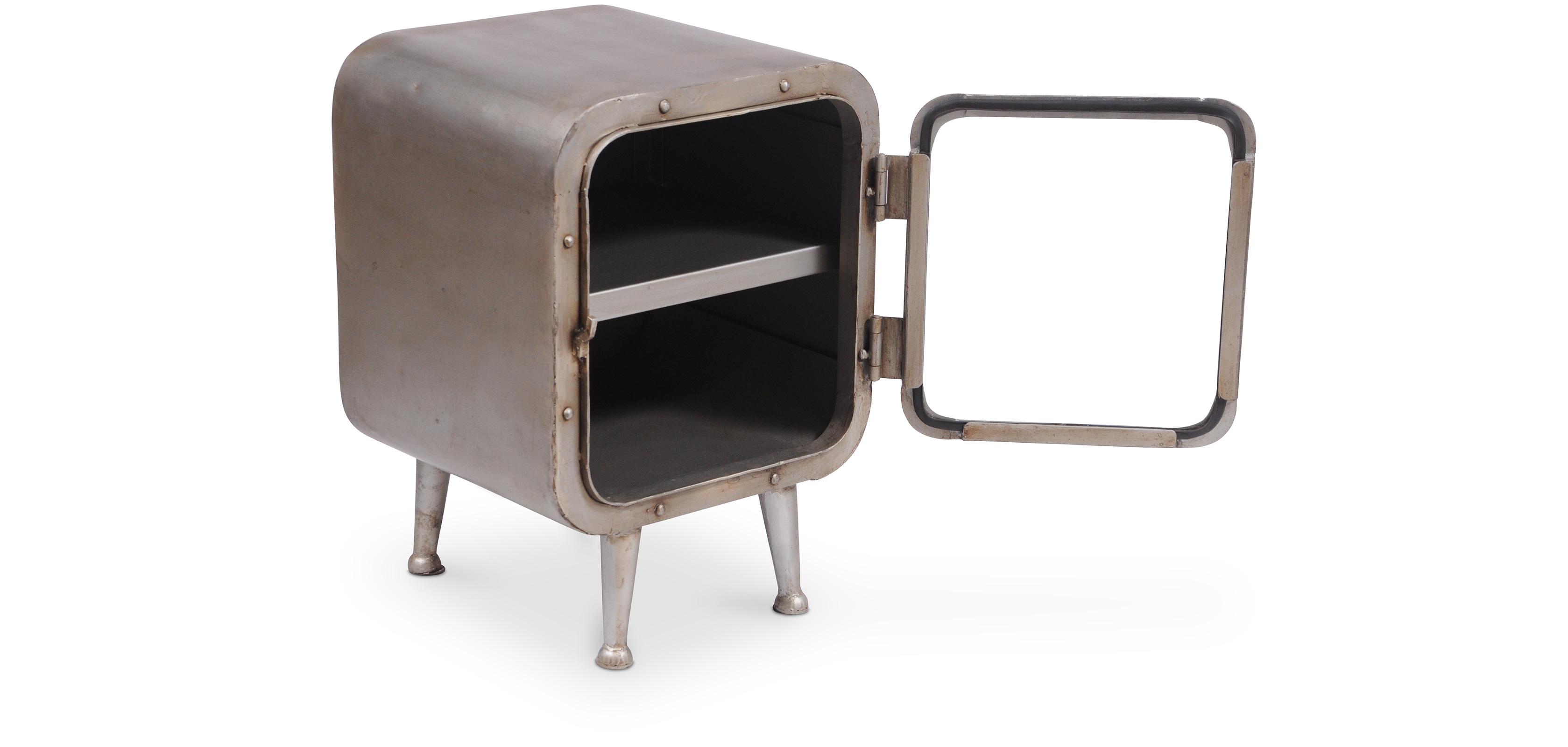Comodino Ferro Vintage Industriale Grange&Co - Ferro e Vetro