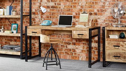 Ufficio Vintage Stile : Scrivania in legno industriale vintage