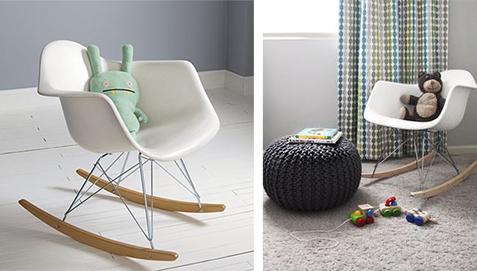 Sedia A Dondolo Rar Eames : Sedia per bambini rar charles eames