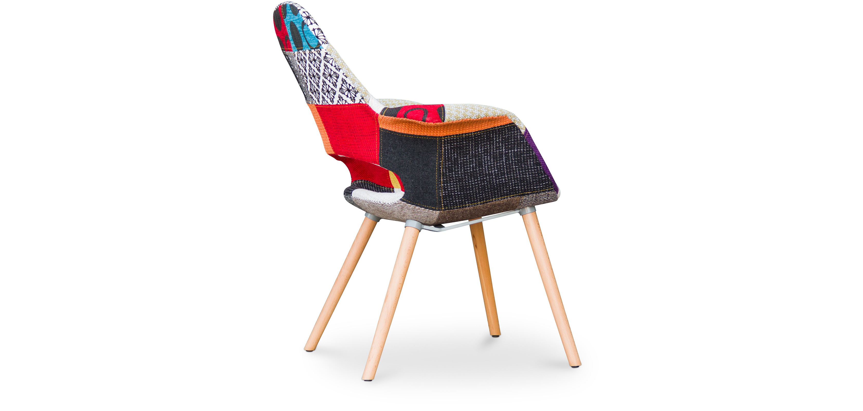 Sedia design scandinavo organic eero saarinen style for Sedia design patchwork