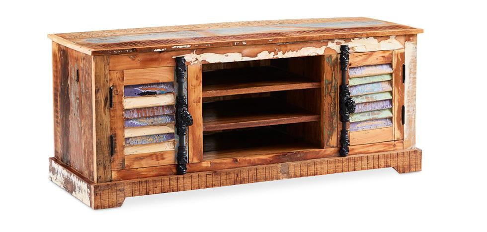 Mobile Tv vintage in legno riciclato