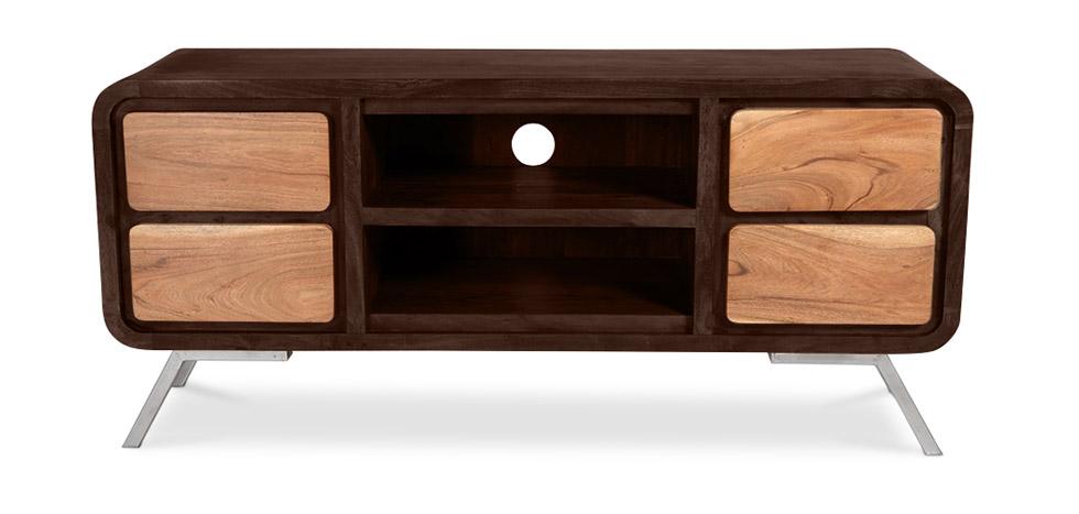 Mobile tv in legno riciclato stile industriale montana - Mobile tv stile industriale ...