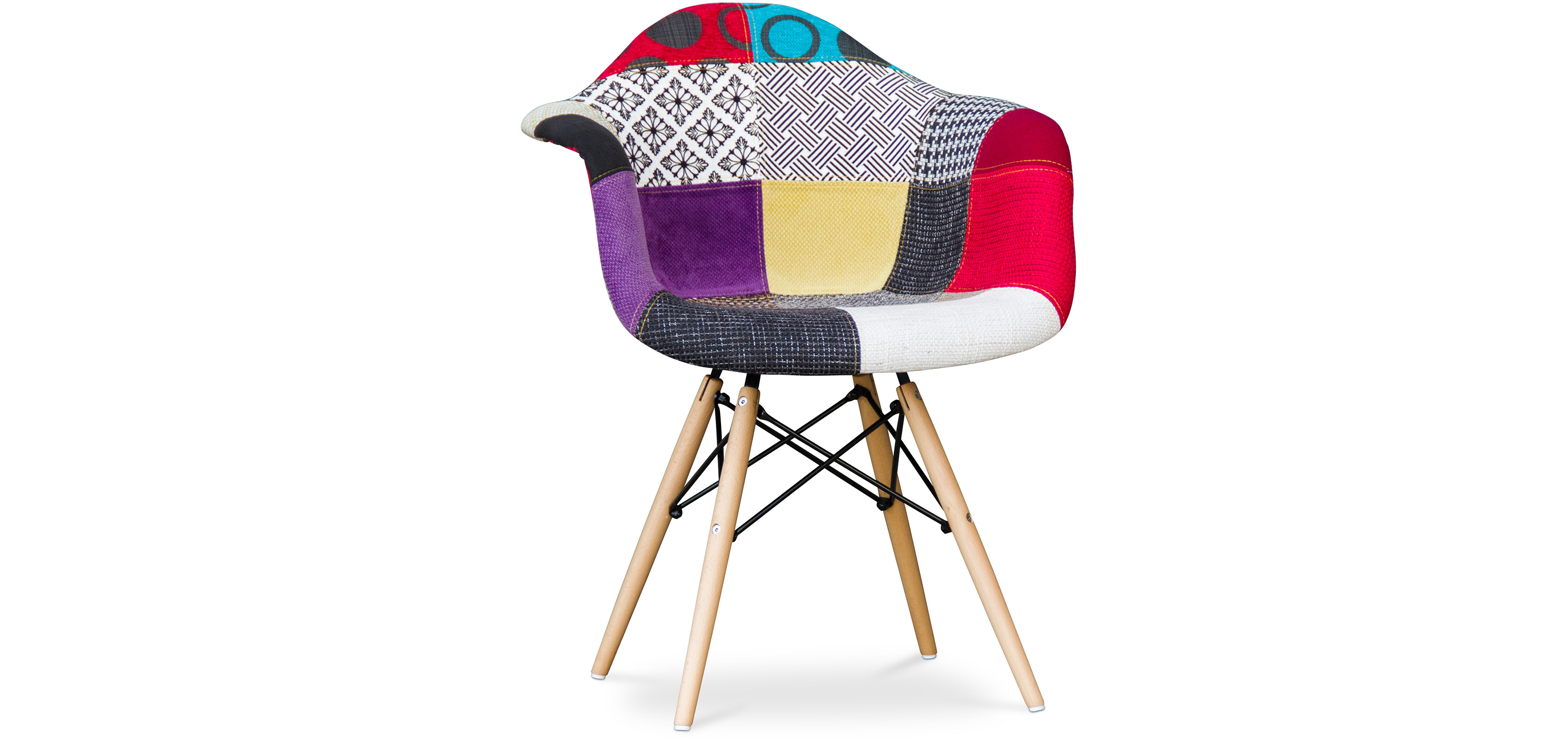 Sedia daw charles eames patchwork style for Sedia design organico