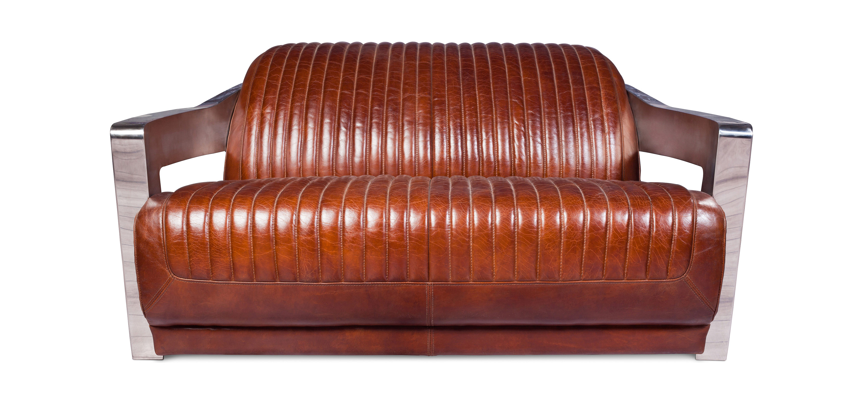 Divano di Design Churchill Lounge - 2 posti – Pelle Premium ...