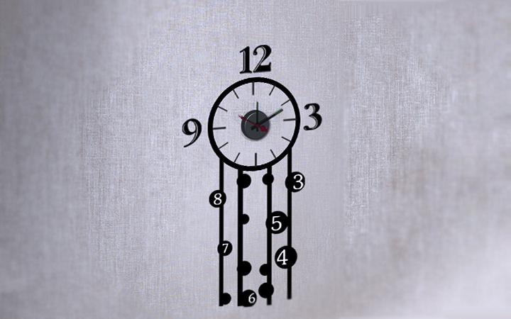 Orologio Da Parete Sticker Design Edera